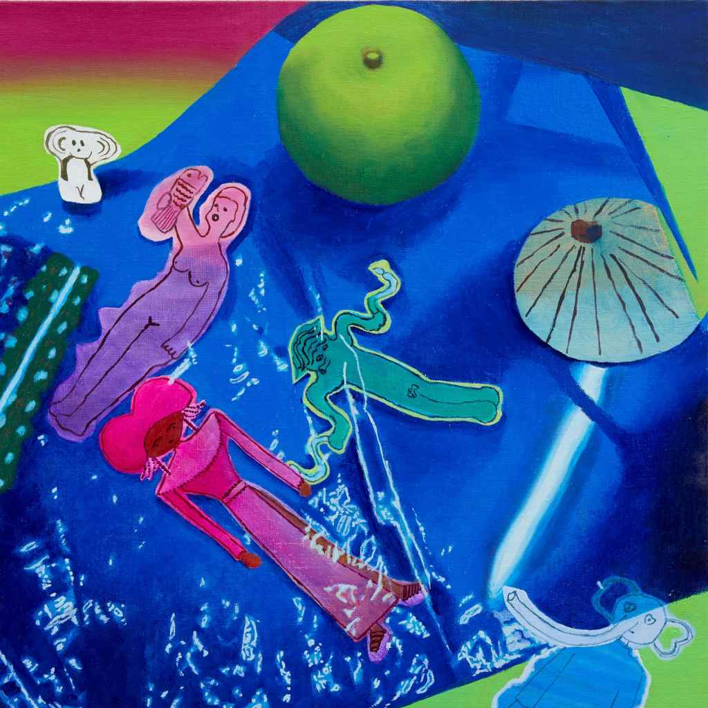 THEIR SPACE OCEAN(他們的宇宙海洋)/2019/油彩在麻布上oil on linen/50.1 x 50.2 cm ©Aya Ito, Courtesy of Tomio Koyama Gallery