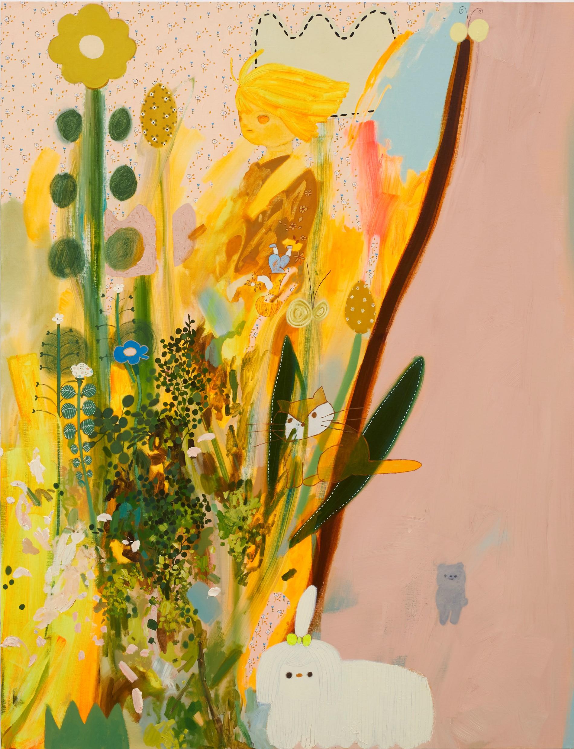 オレンジ色の光 2020 油彩在畫布 oil on canvas 145.5 x 112.0 cm
