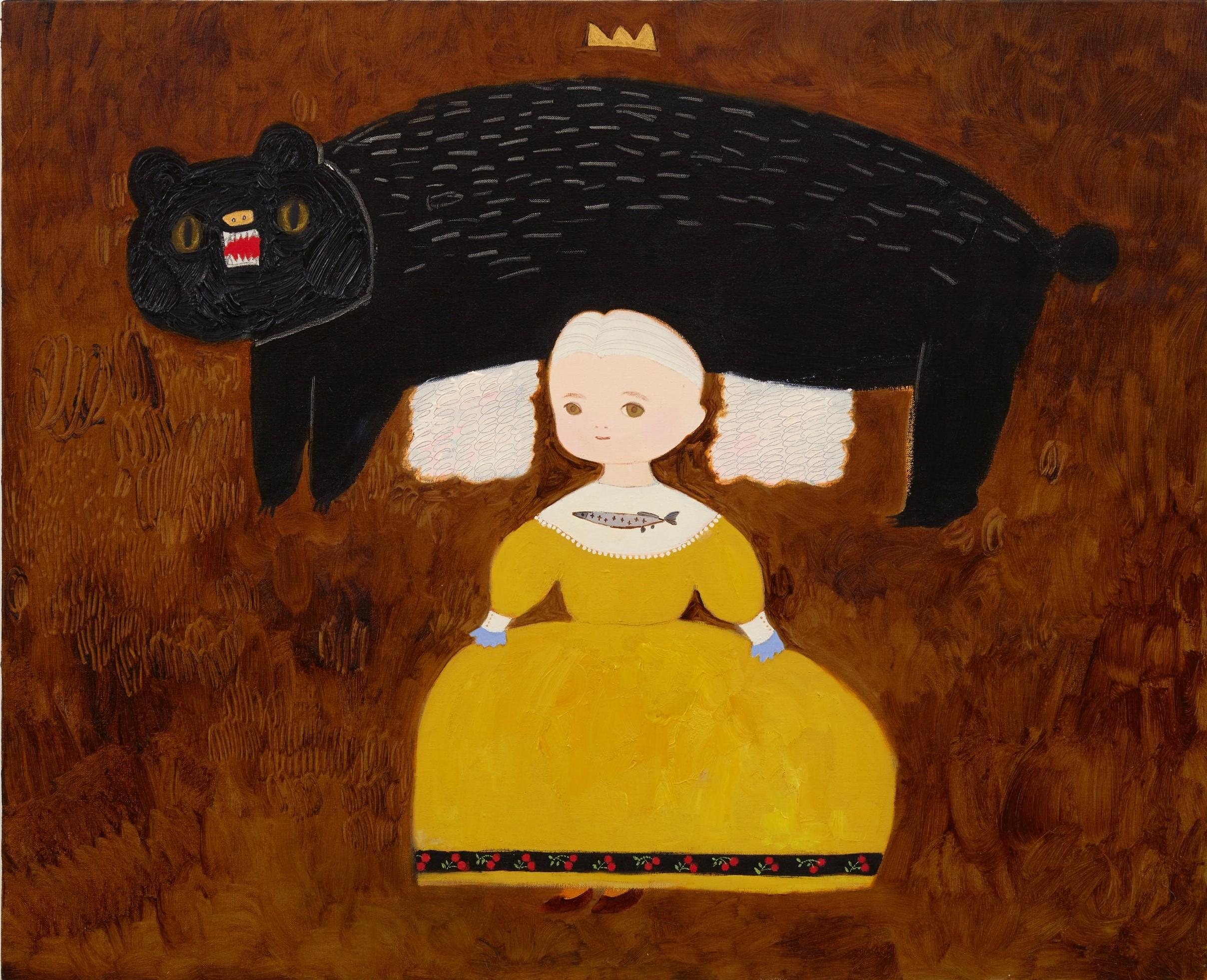 マリーちゃん 2020 油彩在畫布 oil on canvas 65.2 x 80.3 cm